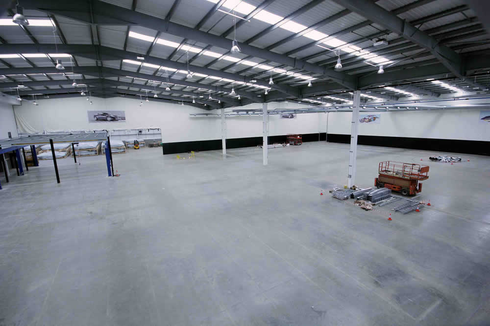 Aston Martin's facility in Coventry before time-lapse capture began
