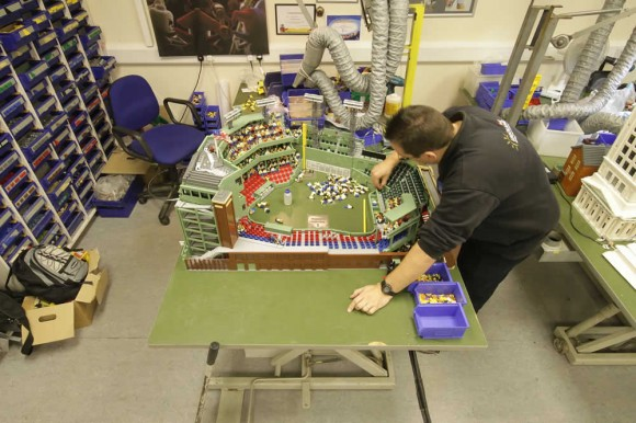 Master builder construction a Lego scale-model Fenway Park
