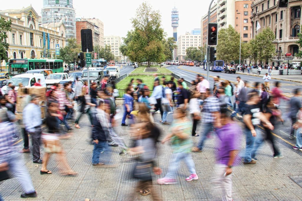 blur Time-Lapse of people crossing