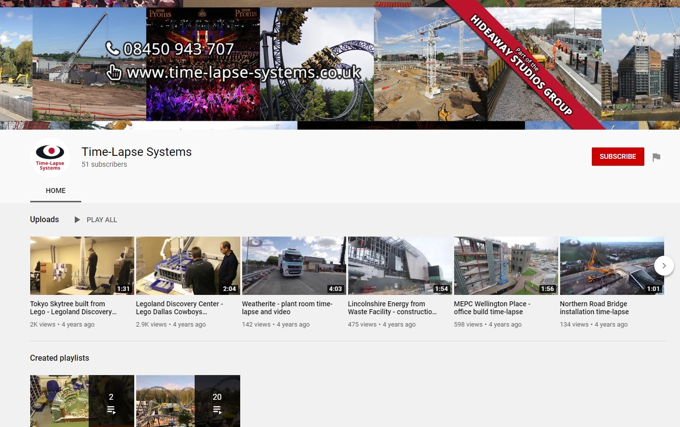 time-lapse systems youtube screenshot