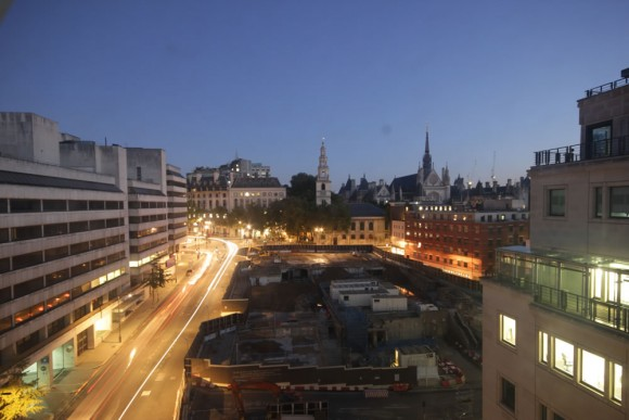 Blue hour example shot from 190 Strand development