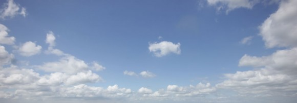Wide view of clouds in the sky