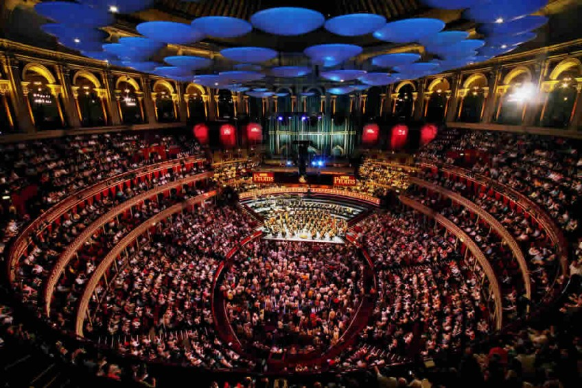 Iconic internal picture of the Royal Albert Hall