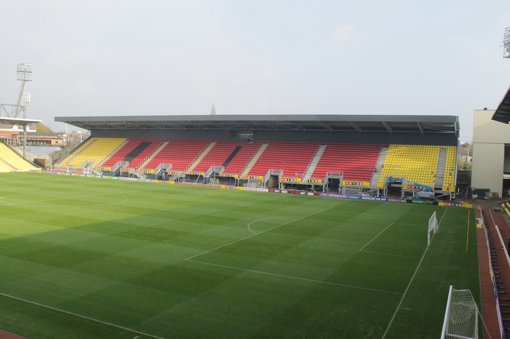 Completed Sir Elton John Stand at Watford FC's Vicarage Road