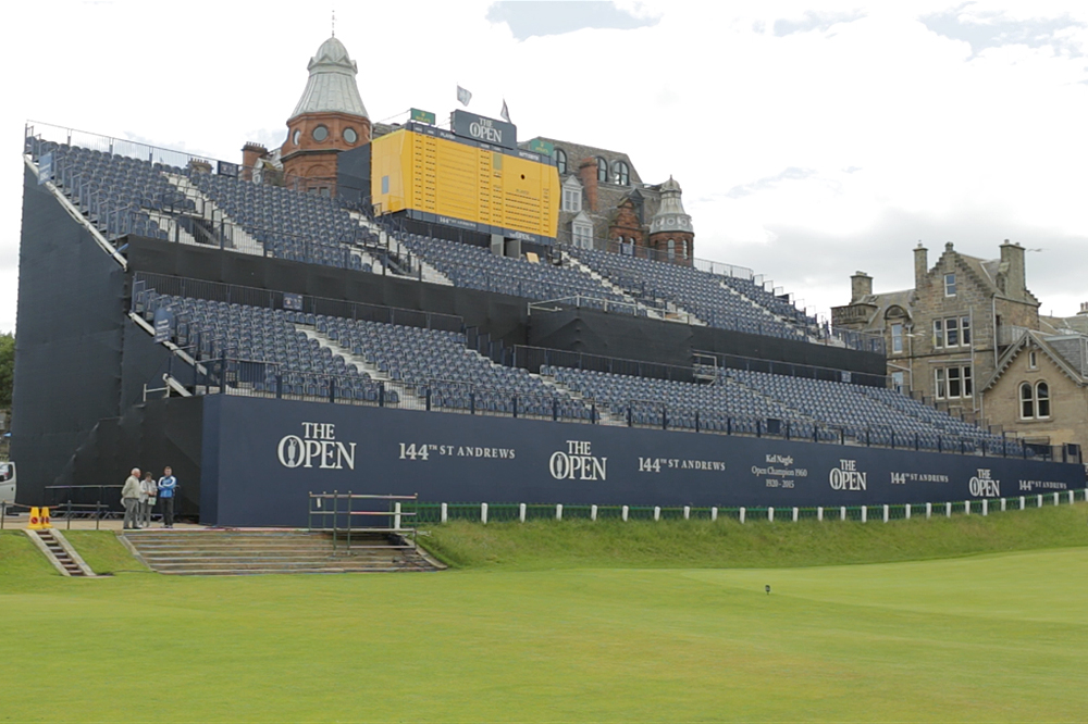 Main grandstand at The Open 2015