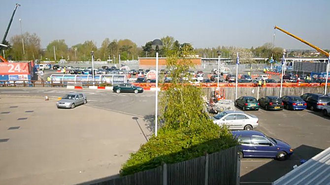 Tesco car park build
