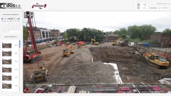Viewer screenshot from East Ham council redevelopment site