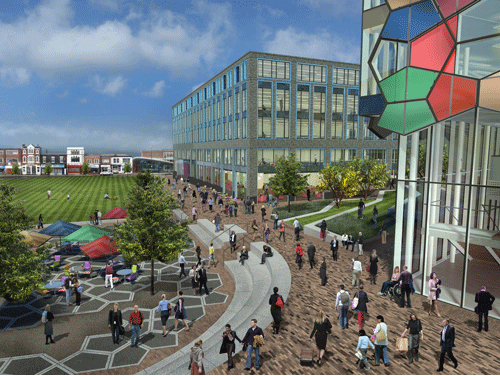 CGI of the Hanley Central Business District development