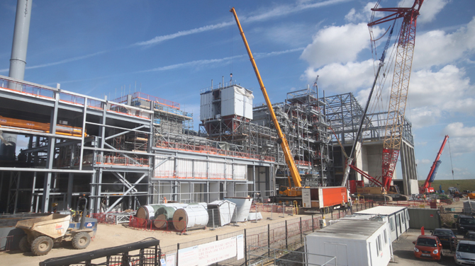 Lincoln Energy from Waste Facility building work