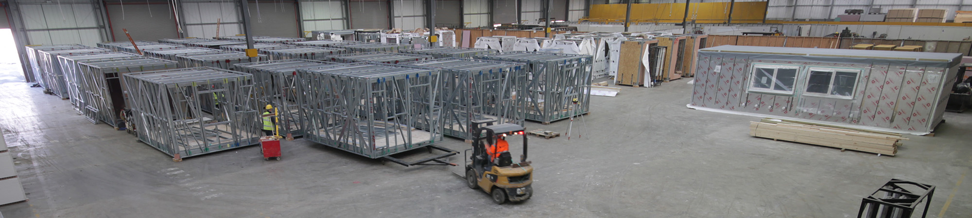 Modules being transported at Caledonian Modular
