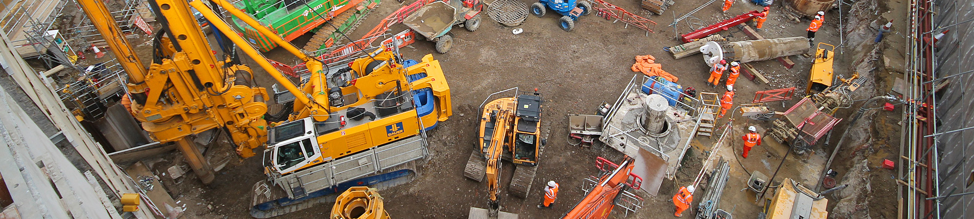 Groundworks at Kier's Moorgate Station Crossrail site