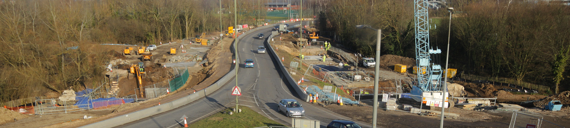 Eastleigh roundabout works near the M27