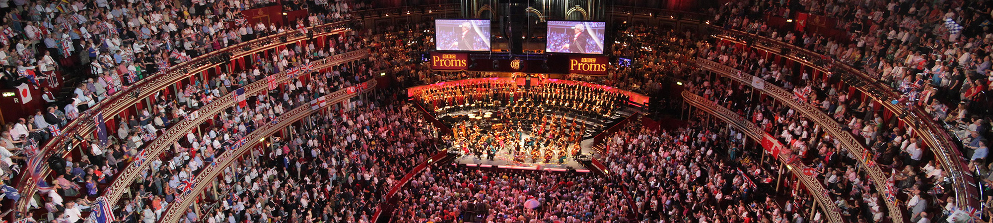 Wide shot from the Last Night of the Proms