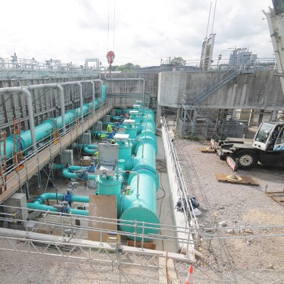 Lostock Water Treatment Works installation