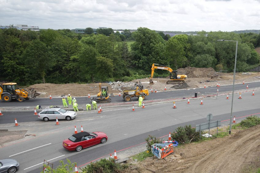 M27 Eastleigh roundabout resurfacing works