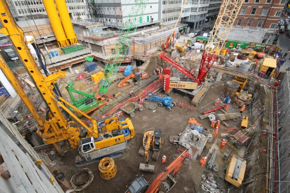 Crossrail development works at Moorgate Station