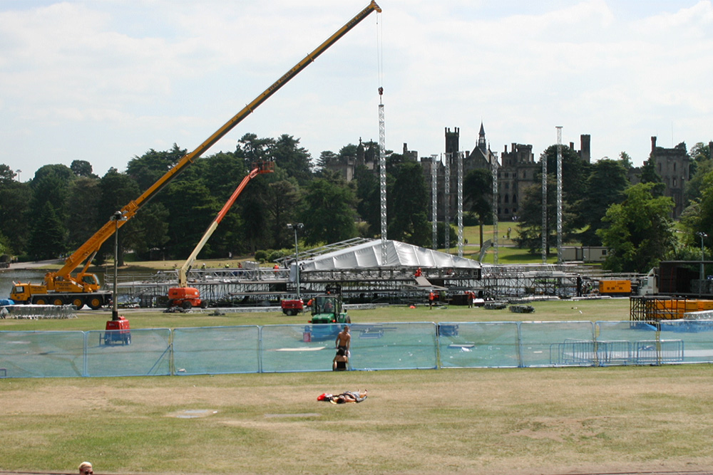 Stage construction underway at Alton Towers for Pink