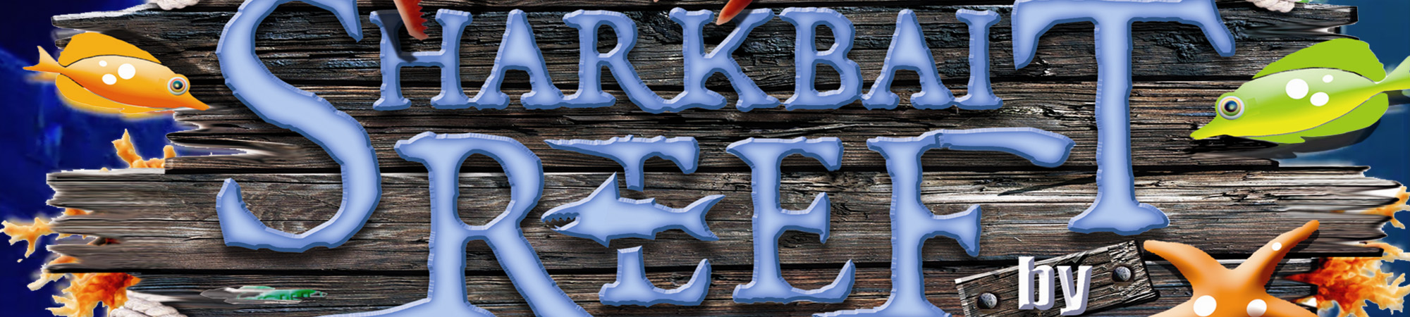 Sharkbait Reef logo close-up from video