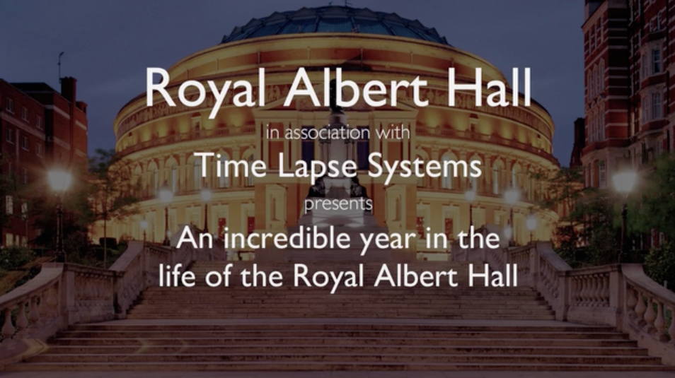 """An Incredible Year in the Life of the Royal Albert Hall"" title screen"