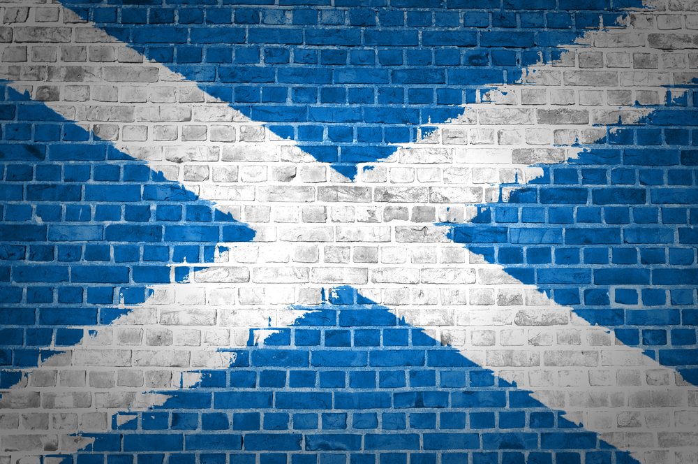 scotland-painted-flag