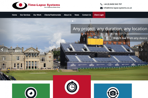 Screenshot of the new Time-Lapse Systems website