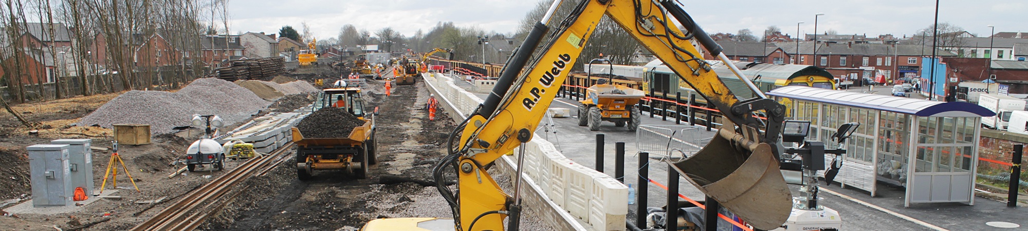 Earth moving at Rochdale Station