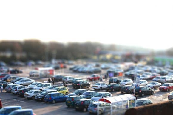 Tesco car park tilt shift