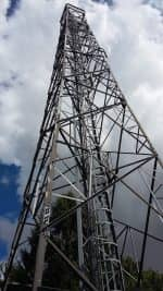 The tower used to install at RAF Brampton