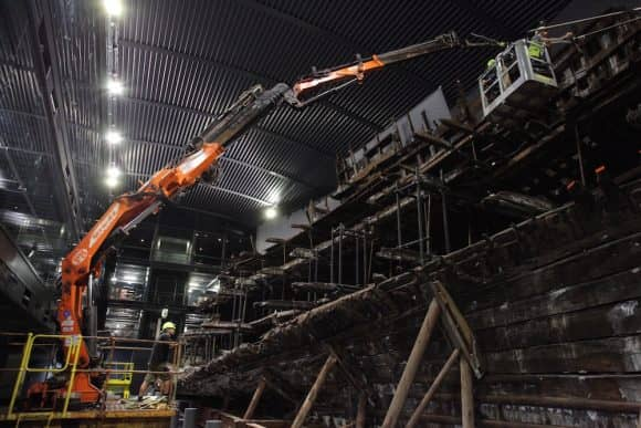 Working from the Mary Rose to capture time-lapse