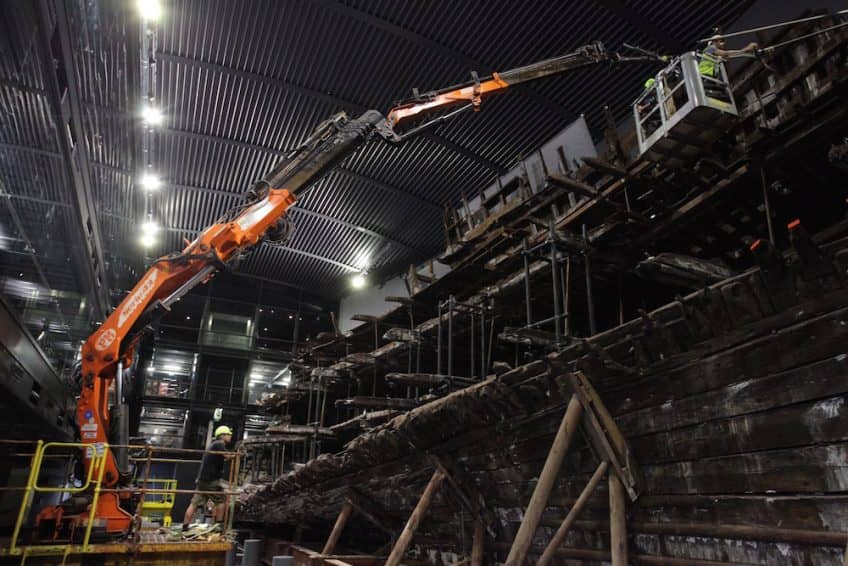 Creating a time-lapse video from inside the Mary Rose Museum, Portsmouth