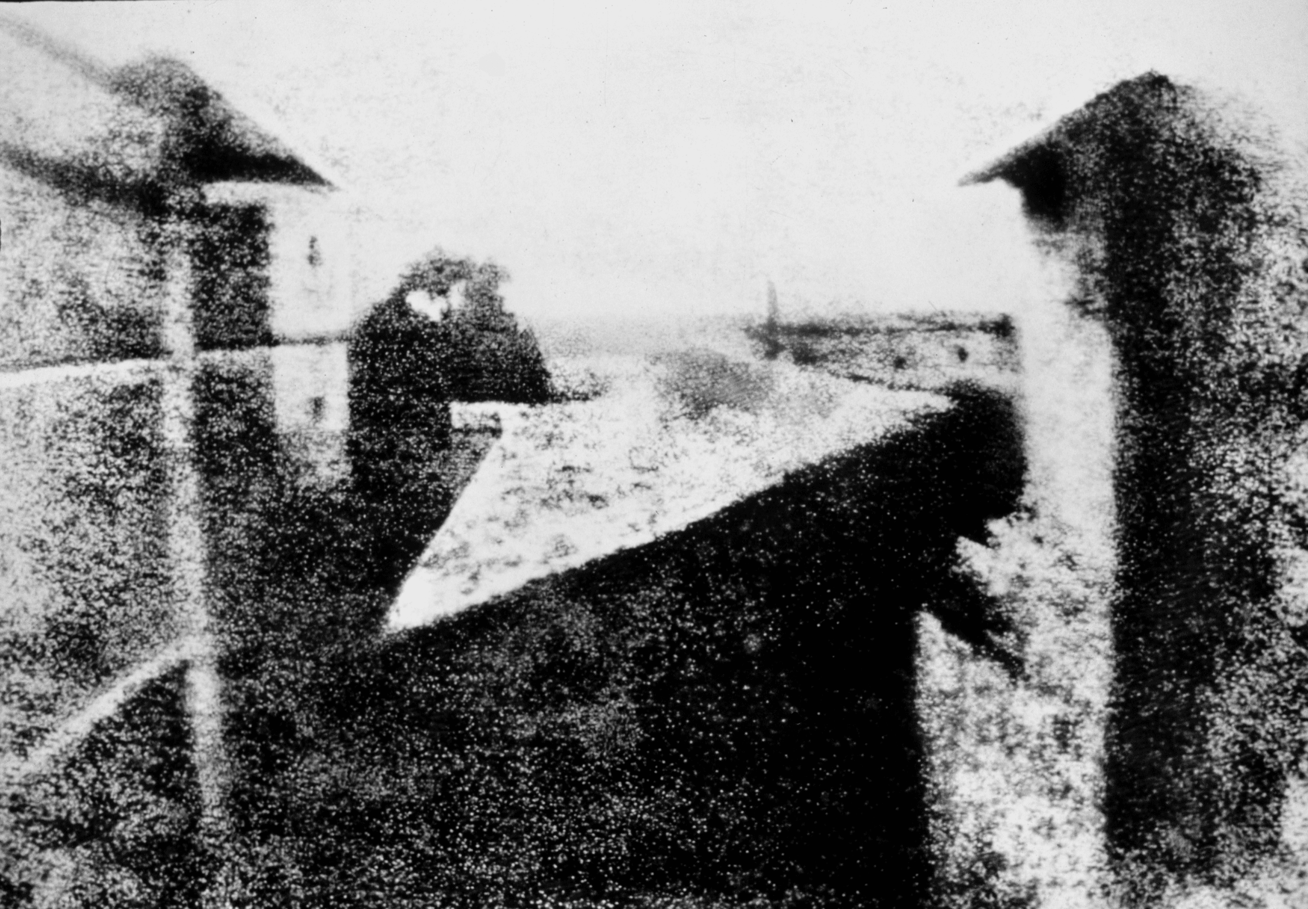 The world's oldest surviving photograph, from 1826