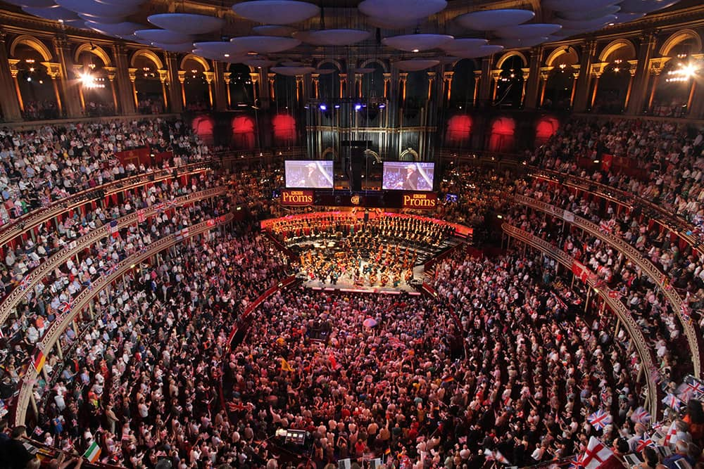 Iconic internal shot of the Royal Albert Hall from the Last Night of the Proms