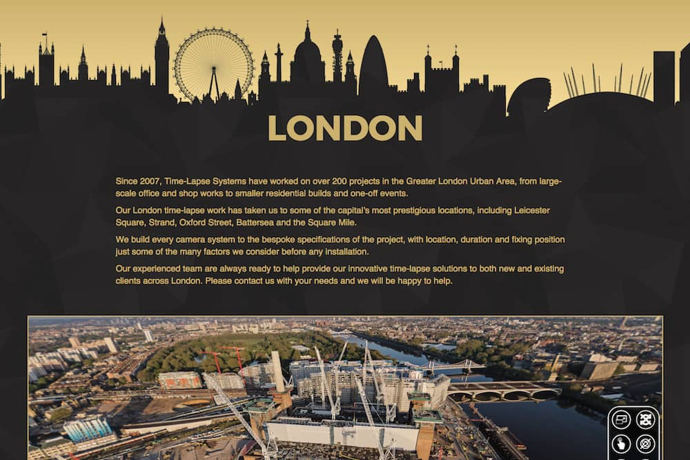 Click here to visit our dedicated London time-lapse page