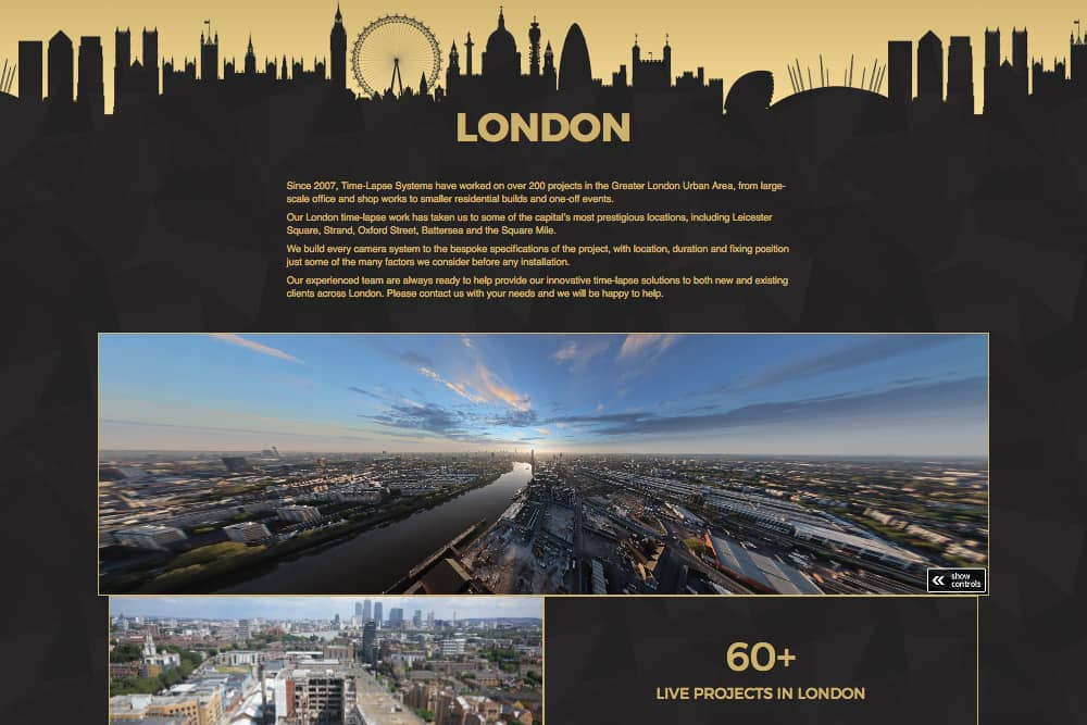 The new London microsite page
