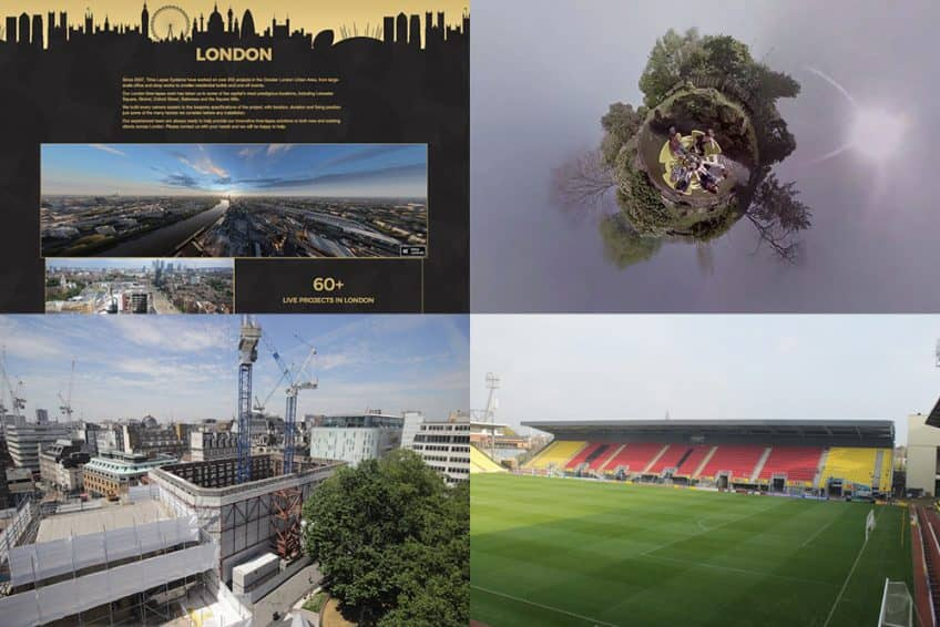 News thumbnails showing Time-Lapse London, Alton Towers, LSQLONDON and Vicarage Road