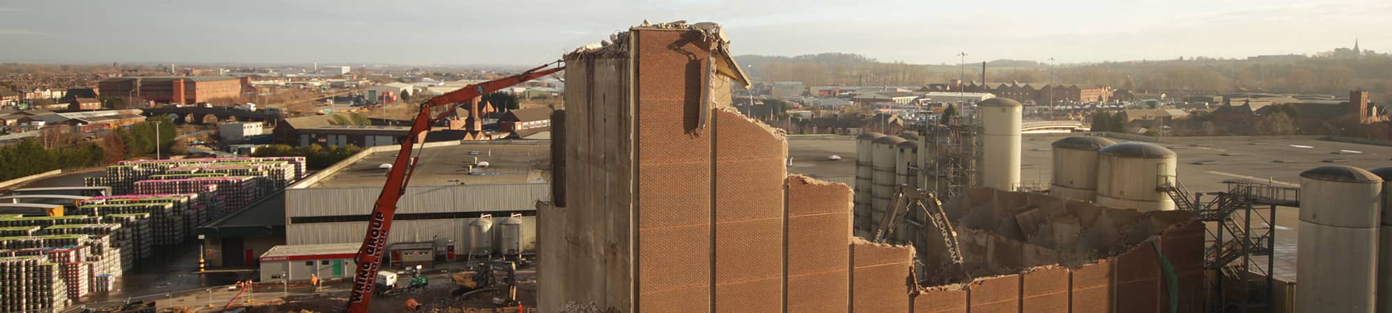 Demolition works at Molson Coors