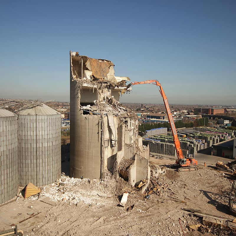 Malting towers demolition