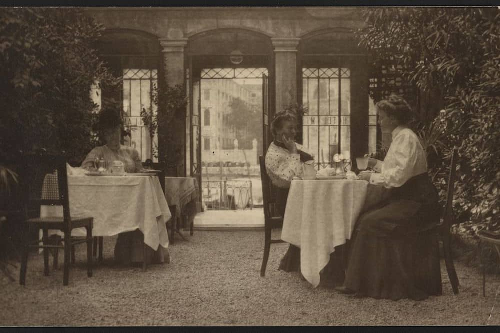 Gertrude Käsebier on Patio of a Venetian Hotel