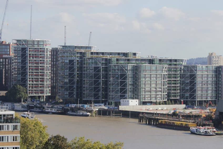 The finished St James Riverlight development at Nine Elms
