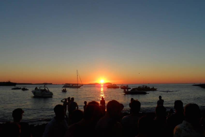 Watching the sunset from Cafe Mambo, Ibiza.