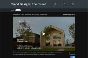 Screenshot from Grand Designs The Street credits, showing Hideaway Media Time-Lapse Systems involvemnet