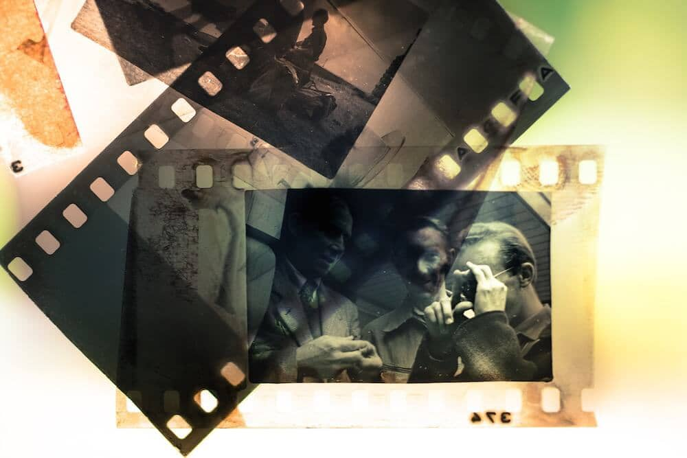 Image of analogue film photography slides.