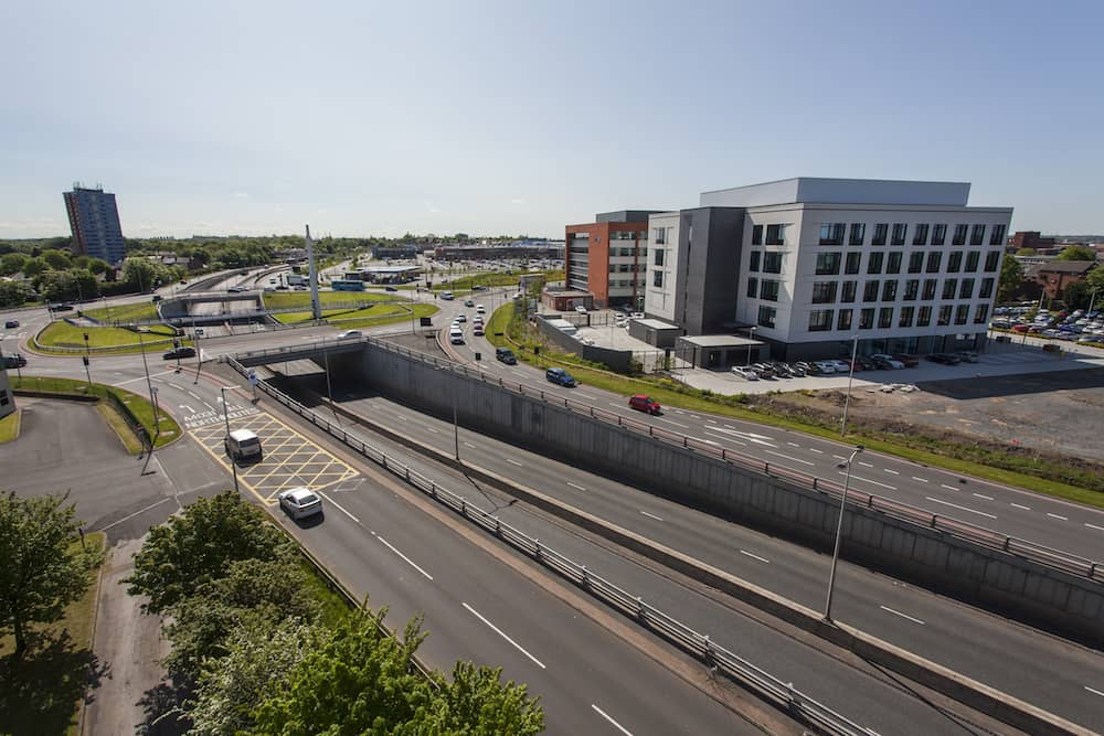 Aerial view over Providence Place in West Brom