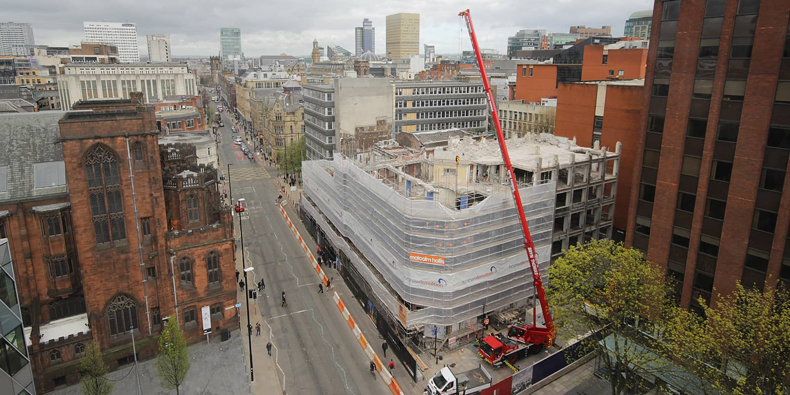 Lincoln House, Deansgate, being demolished to make way for 125 Deansgate, Manchester