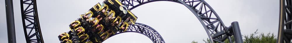 Banner showing The Smiler roller coaster