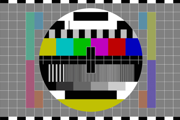 Retro test pattern for TV.