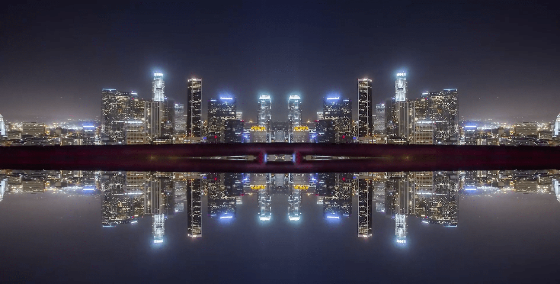 Screen shot from 'Mirror City Timelapse' by Michael Shaimblum.