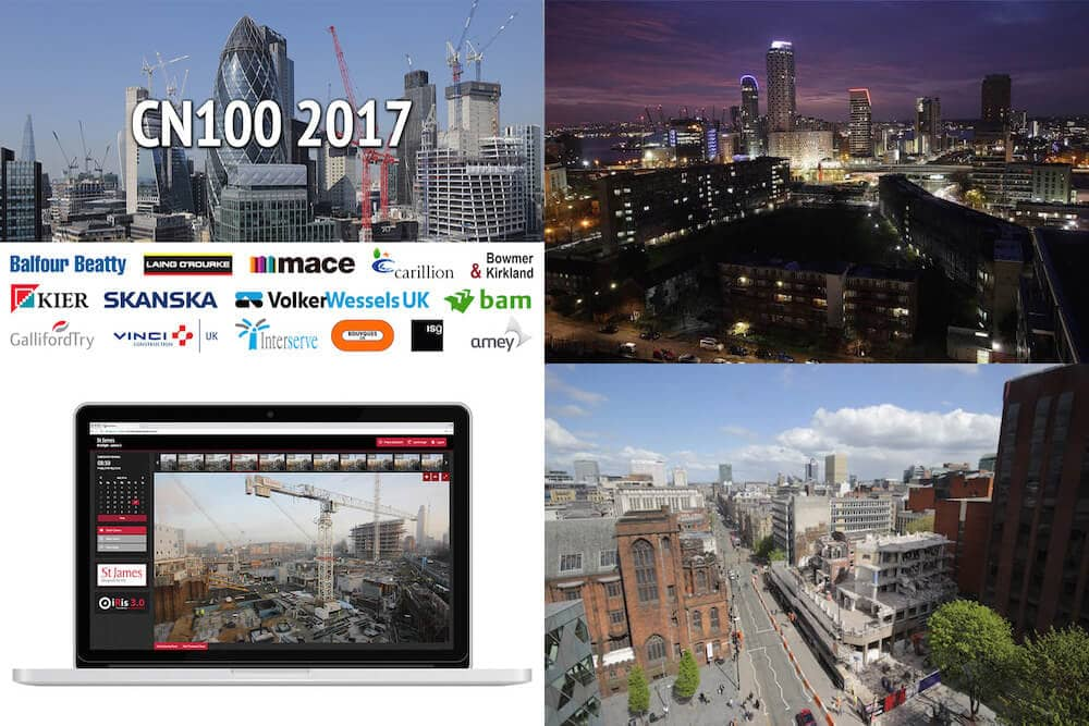 Time-Lapse Systems images from 2017, including the CN100, Blackwall Reach, iRis 3.0 and 125 Deansgate