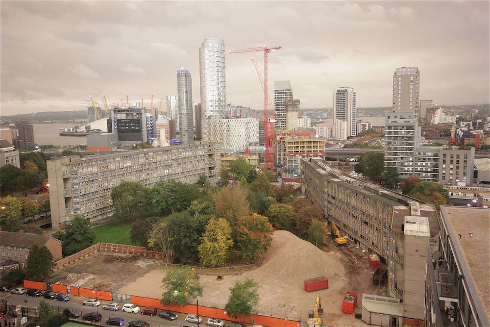 Blackwall Reach, one of our time-lapse construction projects in London, on the day that the sky turned red.