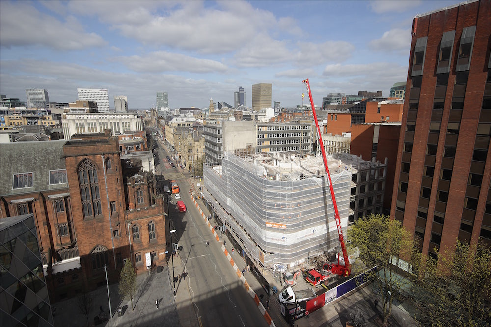 Demolition works at 125 Deansgate, one of our time-lapse construction projects in Manchester.